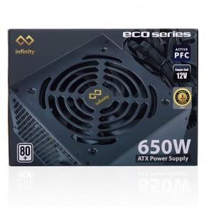 NGUỒN INFINITY ECO 650W (80 PLUS/ACTIVE PFC/SINGLE RAIL)